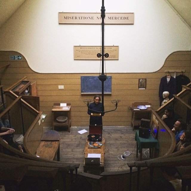 Salomé Voegelin is delivering a performance/ lecture in London's oldest surgical operating theatre.